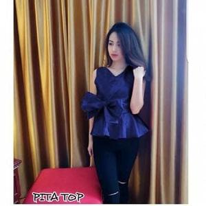 Baju Atasan Wanita Blouse Pita Cantik Model Terbaru