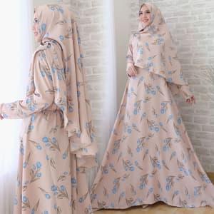 Baju Gamis Syari Modern Motif Cantik Model Terbaru
