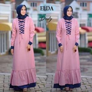 Desain Baju Gamis Long Dress Hijab Muslim Modern