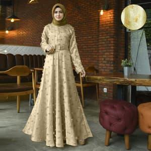 Model Baju Gamis Pesta Terbaru Bahan Jaguar Rubiah Ryn Fashion
