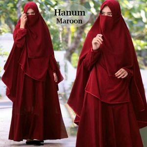 Setelan Baju Gamis Syari dan Cadar Wanita Model Terbaru