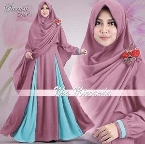 Baju Gamis Syari Muslimah Wanita Busui Model Terbaru