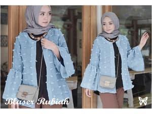 Model Blazer Wanita Bahan Linen Rubiah Modern Terbaru