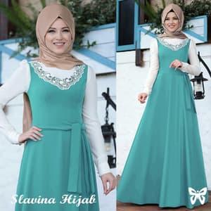 Setelan Baju Gamis Long Dress Muslim Model Terbaru