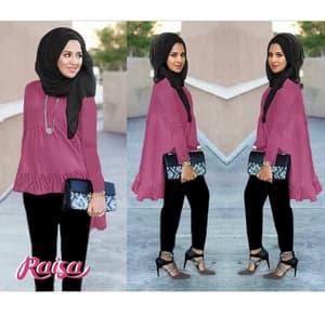 Setelan Baju dan Celana Hijab Muslimah Wanita Modern