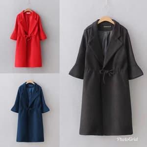 Baju Blazer Long Coat Wanita Modern Model Terbaru