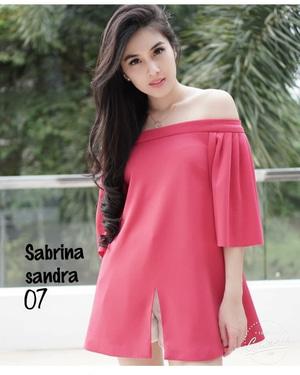 Baju Blouse Atasan Wanita Model Sabrina Terbaru