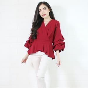 Baju Blouse Atasan Wanita Model Terbaru Kekinian