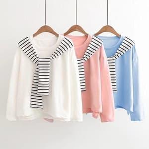 Baju Kaos Wanita Lengan Panjang Modern Model Terbaru