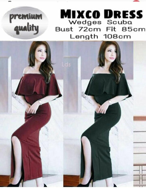 Baju Long Dress Gaun Pesta Panjang Sabrina Modern