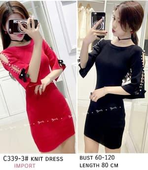 Baju Mini Dress Bahan Rajut Cantik Model Terbaru
