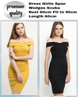 Baju Mini Dress Pendek Sabrina Span Model Terbaru