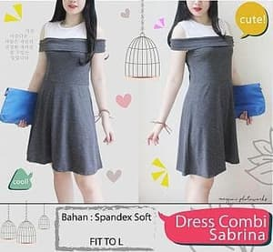 Baju Mini Dress Pendek Sabrina Warna Kombinasi