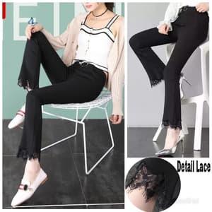 Celana Panjang Cutbray Lace Wanita Model Terbaru