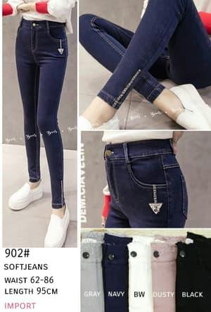 Celana Panjang Soft Jeans Jegging Wanita Terbaru