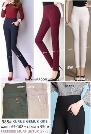 Model Celana Jegging Panjang Wanita Jumbo Pants