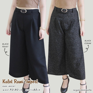 Model Celana Kulot Panjang Wanita Bahan Rami Terbaru