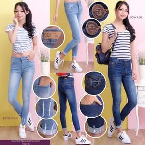 Model Celana Panjang Jeans Sobek Wanita Terbaru
