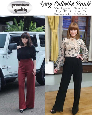 Model Celana Panjang Kulot Wanita Terbaru Modern