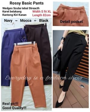 Model Celana Panjang Wanita Bahan Scuba Pants