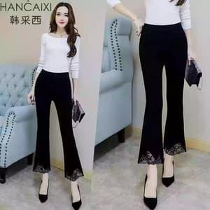 Model Celana Panjang Wanita Cutbray Brukat Terbaru