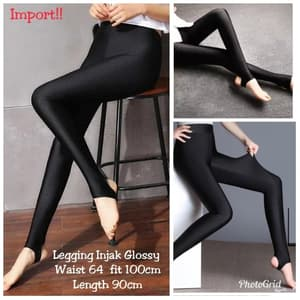 Model Celana Panjang Wanita Legging Injak Glossy