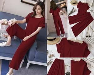 Setelan Baju dan Celana Wanita Polos Modern