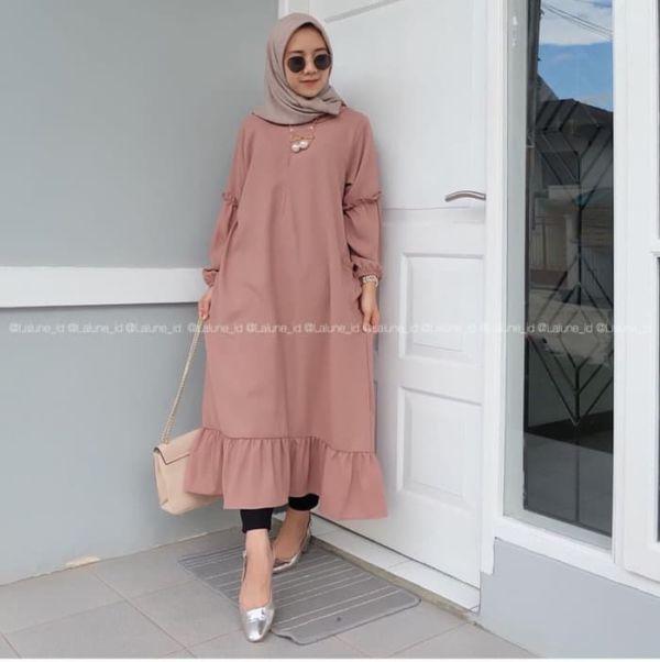 Baju Atasan Muslim Wanita Tunik Polos Model Terbaru