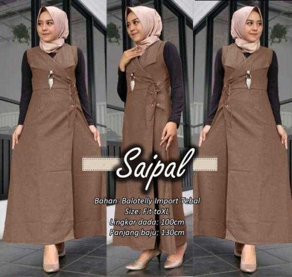 Baju Long Cardigan Outer Muslim Panjang Modern