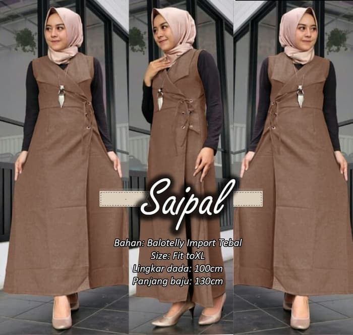 Baju Long Cardigan Outer Muslim Panjang Modern Ryn Fashion