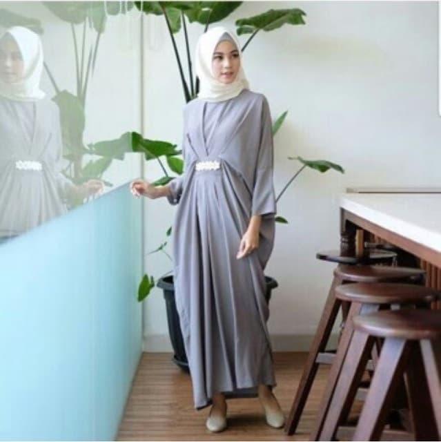 Baju Long Dress Hijab Gamis Kaftan Model Terbaru RYN Fashion