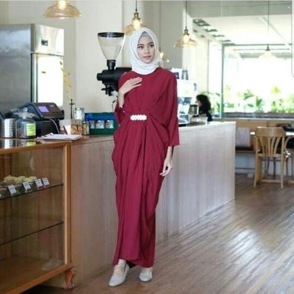 Baju Long Dress Hijab Gamis Kaftan Model Terbaru