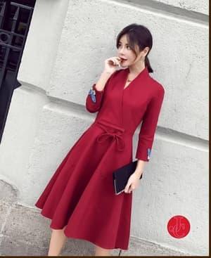 Baju Mini Dress Pendek Cantik Ala Korea Modern