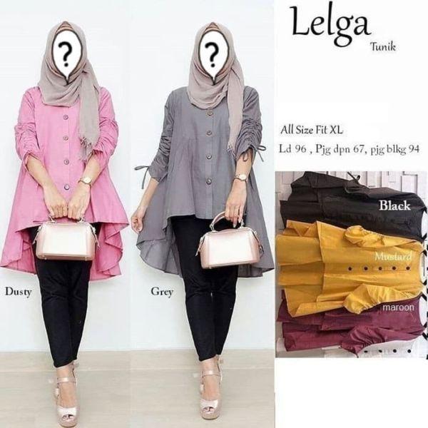 Model Baju Atasan Blouse Hijab Tunik Polos Terbaru