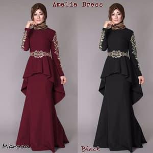 Model Baju Gamis Bordir Pesta Modern Terbaru Ryn Fashion