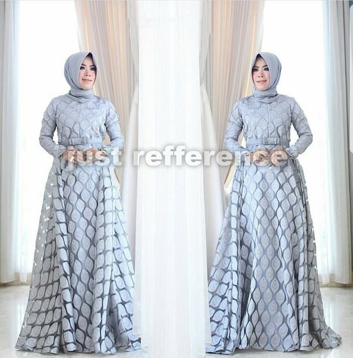 Model Baju Gamis Long Dress Hijab Pesta Terbaru