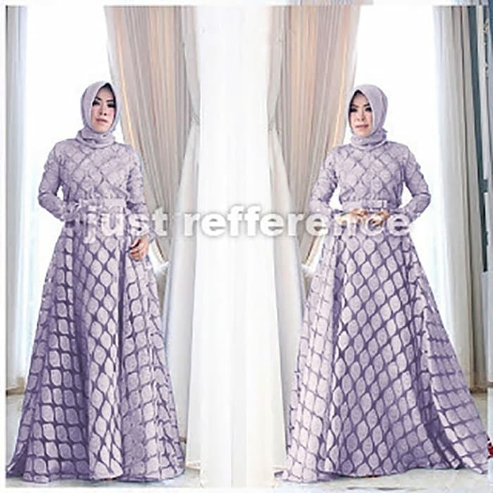 Model Baju Gamis Long Dress Hijab Pesta Terbaru Ryn Fashion