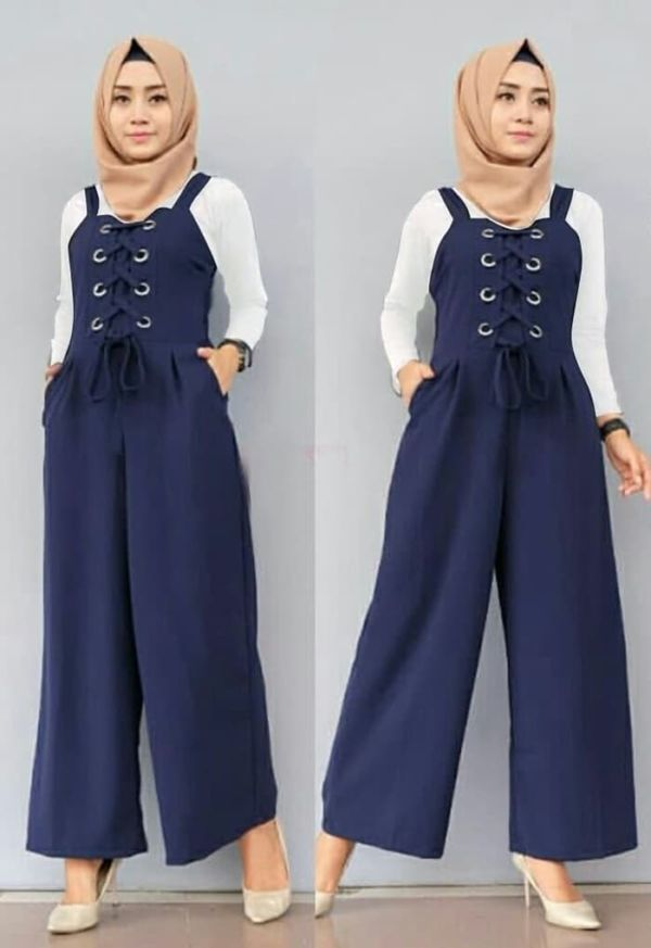 Setelan Baju Jumpsuit Panjang Muslim Model Terbaru