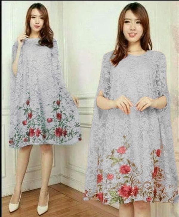 Baju Kaftan Mini Dress Pendek Brukat Model Terbaru