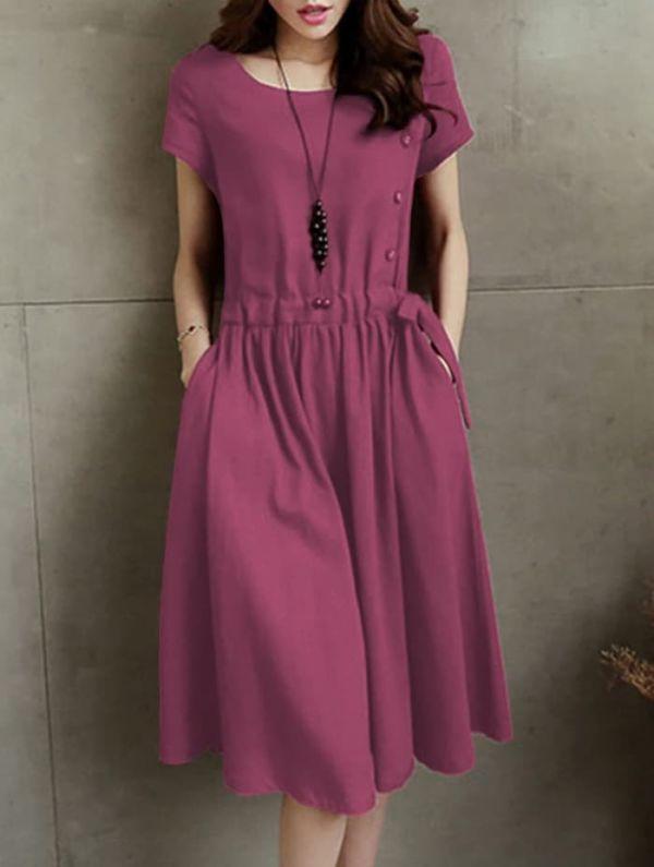 Baju Mini Dress Pendek Polos Wanita Model Terbaru