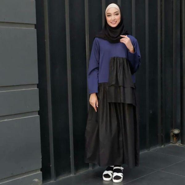 Model Baju Atasan Blouse Tunik Lengan Panjang Modis
