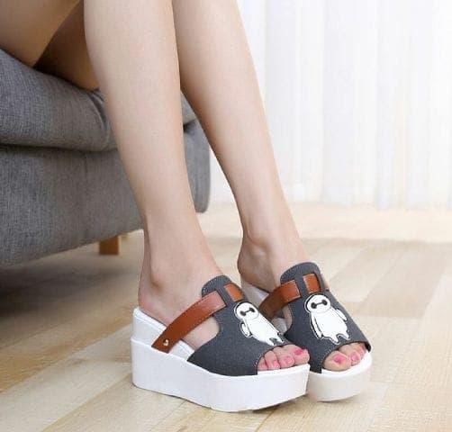 Sandal Wedges Cantik Model Terbaru Unik Modern