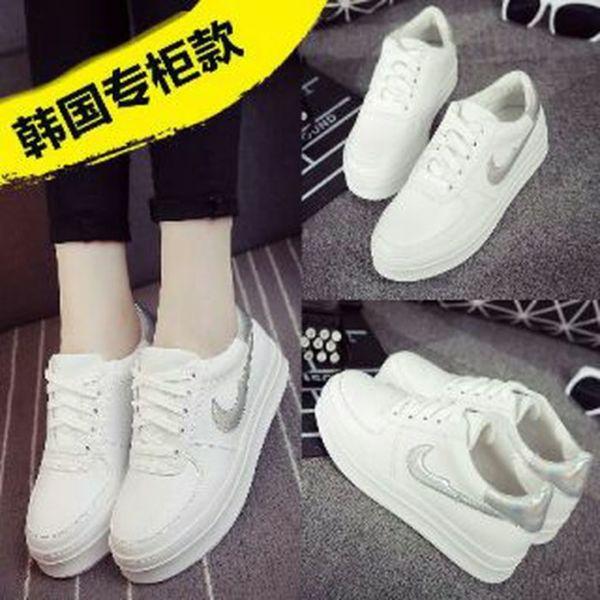 Sepatu Kets Wanita Tali Warna Putih Model Terbaru