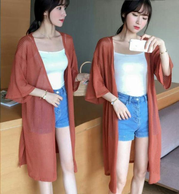 Baju Cardigan Wanita Bahan Rajut Model Terbaru