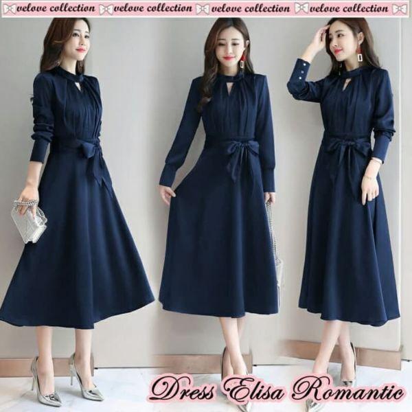 Baju Dress Pendek Lengan Panjang Model Terbaru