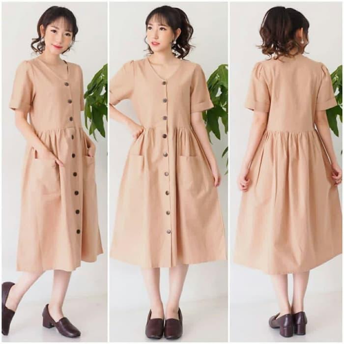 Baju Dress Pendek Wanita Cantik Simple Model Terbaru