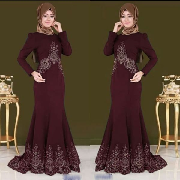 Baju Gamis Duyung Bordir Modern Model Terbaru