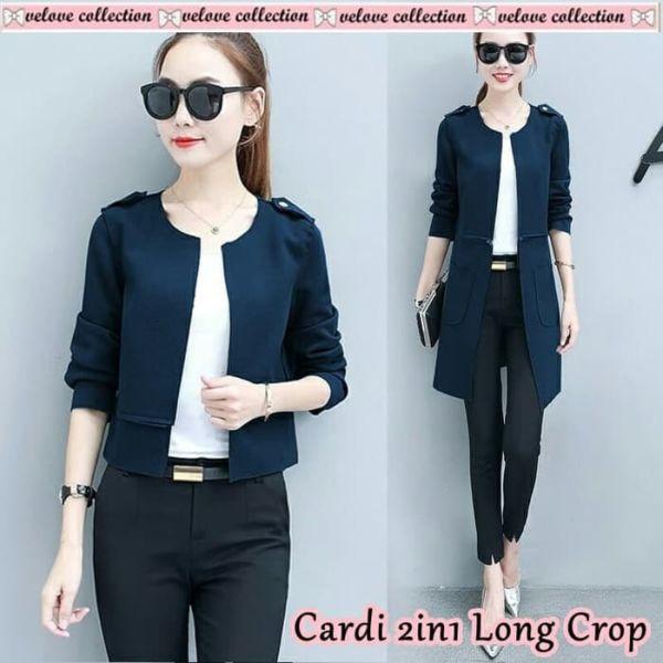 Baju Long Crop Cardigan Cantik Model Terbaru
