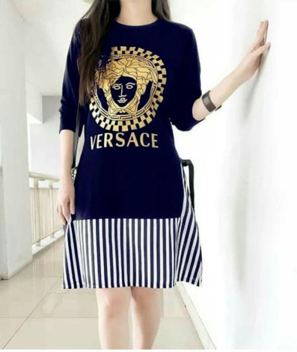 Baju Mini Dress Pendek Lengan Panjang Modern