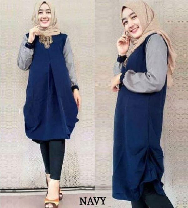 Baju Tunik Murah Atasan Muslim Model Terbaru